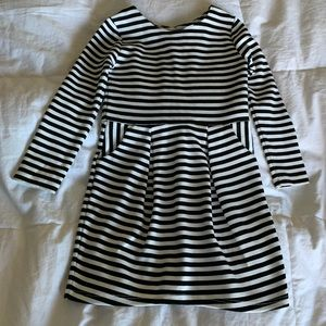 Black & White Stripe Dress with pockets